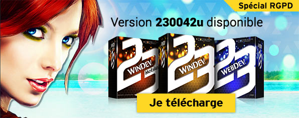 "Nouvelle version ""Update 1"" spéciale RGPD de WINDEV, WEBDEV et WINDEV MOBILE 23 (42u)"