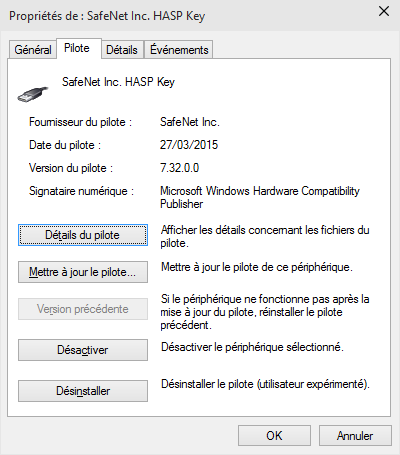 Microsoft Windows 10 annoncé pour le 29/7/2015, pilote SafeNet version 7.32 adapté